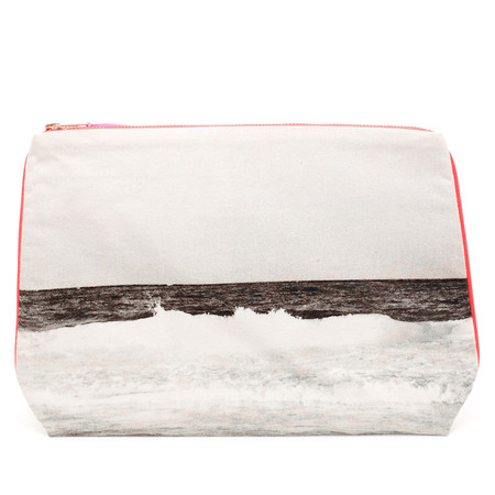 Dezso by Sara Beltran TULUM BLACK AND WHITE CANVAS POUCH
