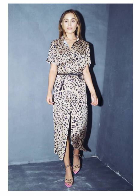 Never Fully Dressed Maria Dress - Gold/Leopard
