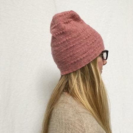 Ros Duke Textured Beanie Hat - Dusty Pink