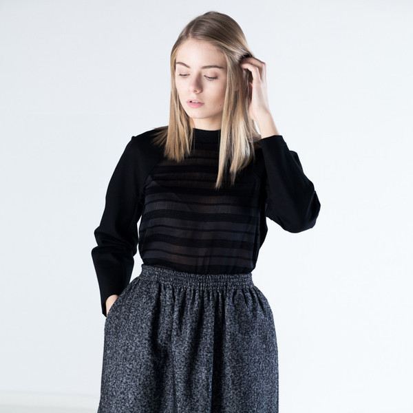 Baserange Loose Skirt Cotton Wool