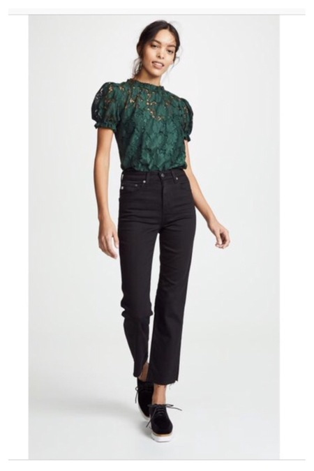 dRA Clothing Pia Top - Emerald lace
