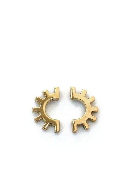 Tiro Tiro Ojo Earrings - Brass