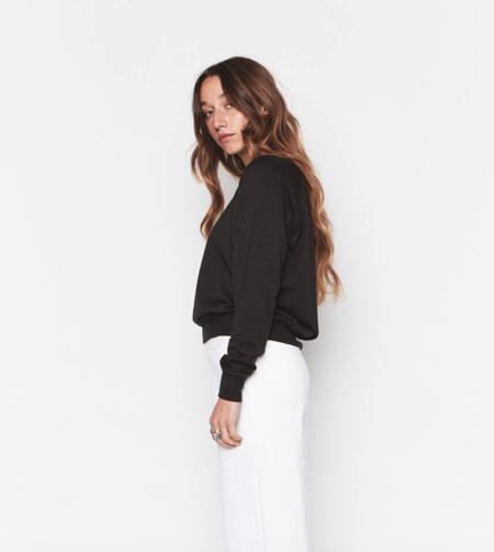 Backbeat Rags Tencel Cropped Sweatshirt - Black