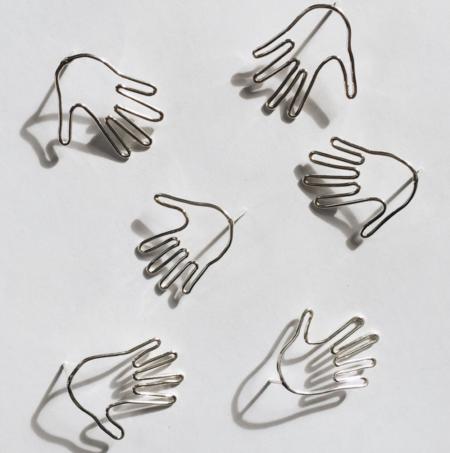 Blade & Knoll Hands Earrings - Silver