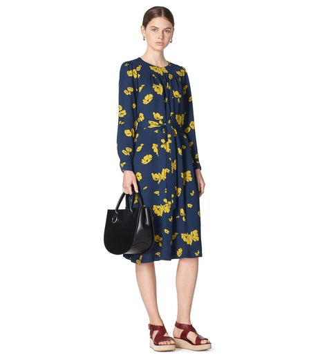 A.P.C. June Dress - Navy Floral Print
