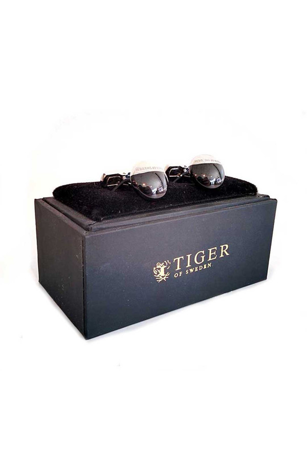 Men's Tiger of Sweden Tiger of Sweden Argento Cufflinks