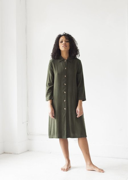 Me & Arrow Long Jacket Dress - Moss