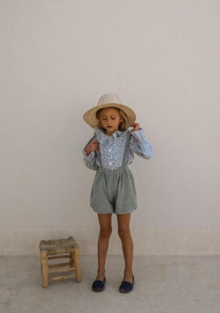 Kids Yoli & Otis Jean Marie Overalls - Desert Sage