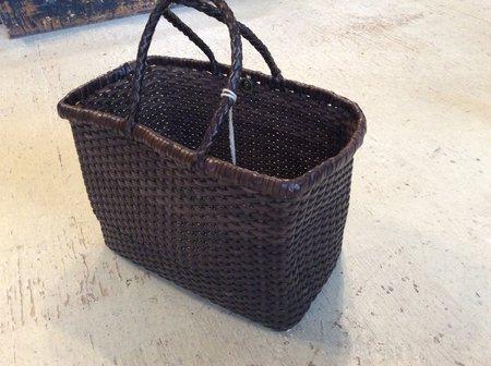 Dragon Basket Weave Small Bag - Dark Brown