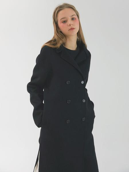 CHORRD Short Collar Handmade Coat - Black