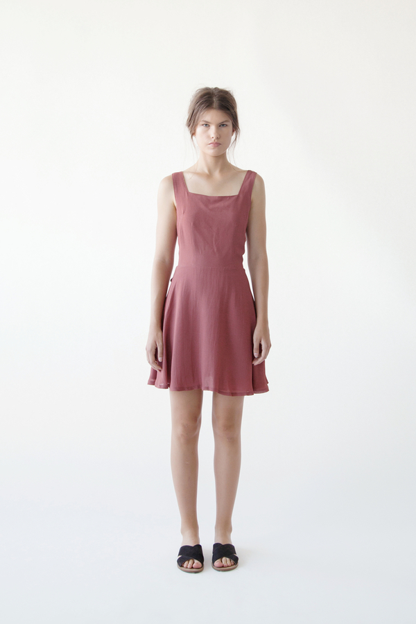 Stil. Princeton Dress In Rust