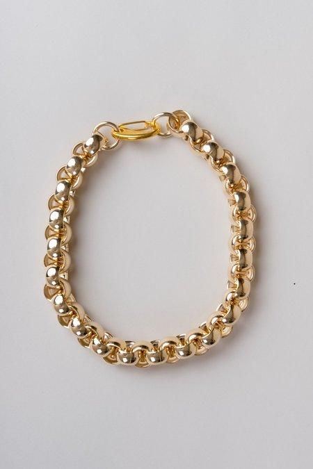 Laura Lombardi Luna Chain Necklace - Brass