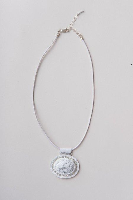 Robin Mollicone Howlite Carina Necklace - White