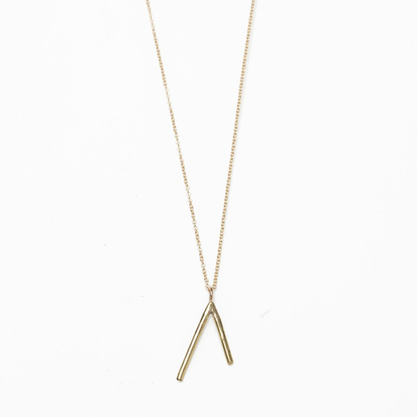 Another Feather Brass Dart Necklace