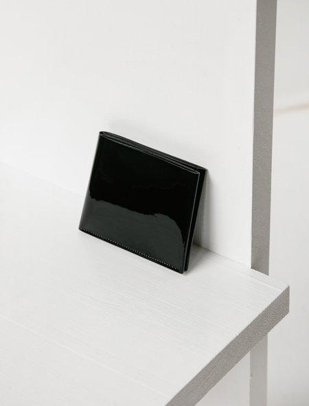 Isaac Reina Mens 223 Une feuille A Patent Calf Wallet - black