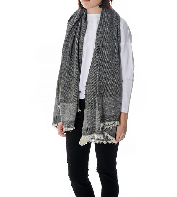destin Black and White Haze Mega Scarf