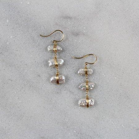 Dana Kellin Pearl Gold Earrings