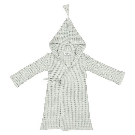KIDS Moumout Paris Baby And Child Pepin Bee Honeycomb Bathrobe - Almond Green