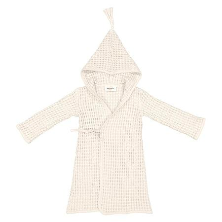 KIDS Moumout Paris Pepin Bee Honeycomb Bathrobe - Milk White