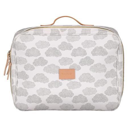 Moumout Paris Suitcase - White With Clouds