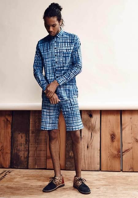 Studio One Eighty Nine Cotton Bermuda Shorts - Blue Reiko