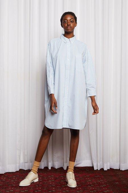 Salasai Oxford Oddity Shirt Dress - Blue/White