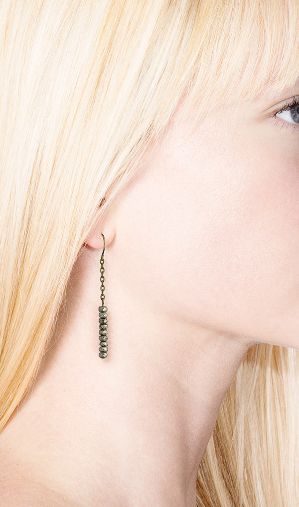 Grayling Pyrite Disc Earring