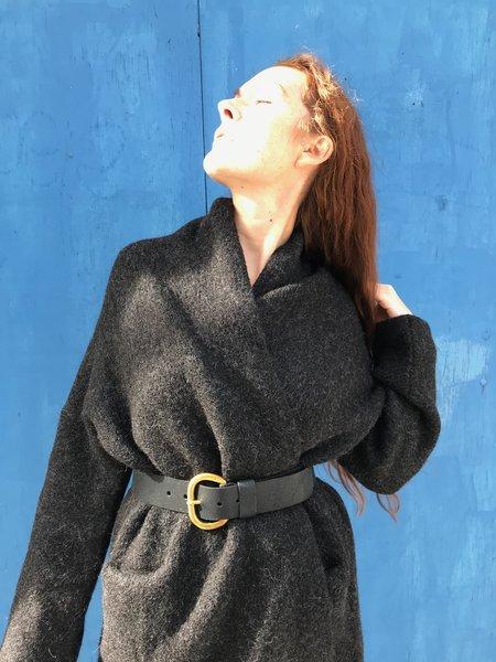 Rachel Comey Estate Distressed Leather Belt - Black