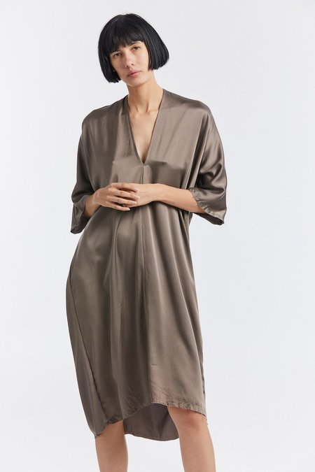 Miranda Bennett Silk Charmeuse Muse Dress - Osage Iron V.I