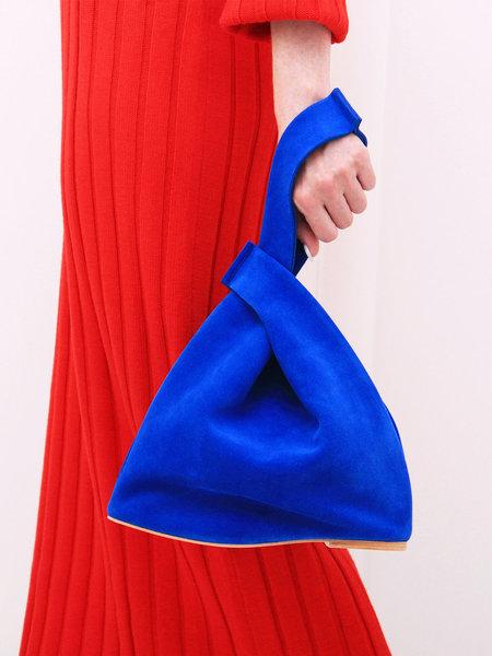 A'N'D Flat Heel Loop Handle Bag - Electric Blue
