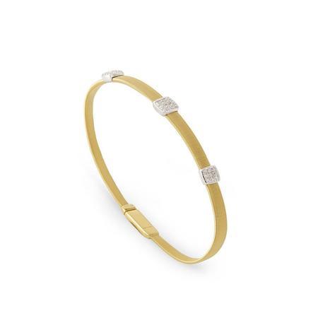 Marco Bicego Masai 18K Three Station Diamond Bracelet - Yellow Gold