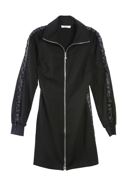 Area Beaded Track Dress - Black