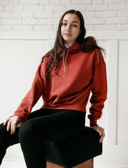 Eckhaus Latta Womens Hoodie - Oxblood