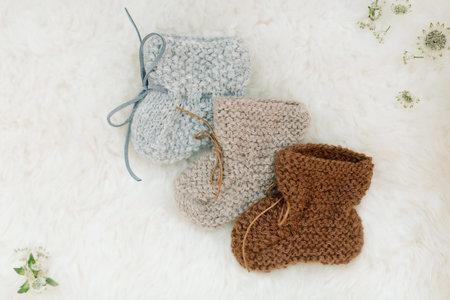 KIDS Petit Kolibri BABY ALPACA SLIPPERS - CAMEL BROWN