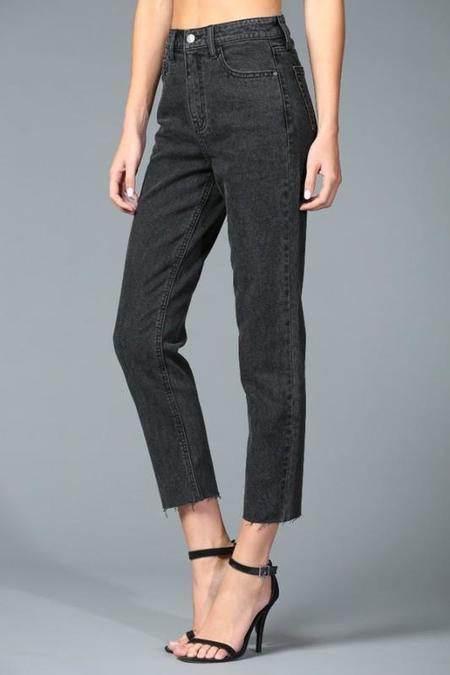 Disclosed Denim Claudine High Rise Straight Jean - Black Wash