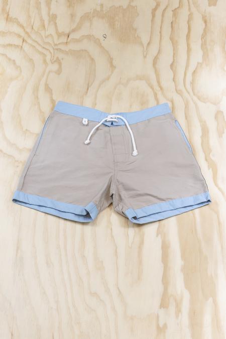 Cuisse de Grenouille Board Short - Beige/Blue