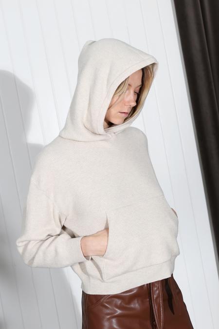 Nanushka Mog Knit Hoodie - Ivory