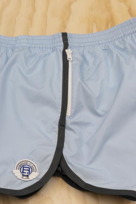 Robinson Les Bains Cambridge Long Bleu Acier Swim Shorts - BLUE ACIER