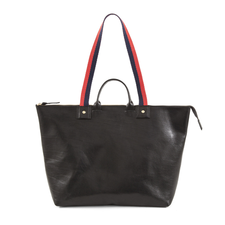Clare V. Le Zip Sac in Black Rustic
