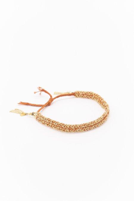 Marie Laure Chamorel Plaited Bracelet - Gold Caramel