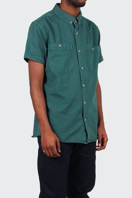 Rollas Men At Work Short Sleeve Shirt - Trade Green