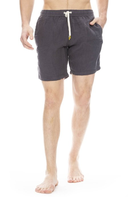 Hartford Linen Swim Short - Carbone