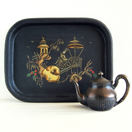 Task Chinoiserie tray