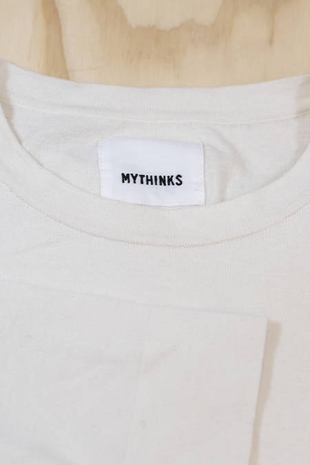Mythinks Knit Long Sleeve Tee - Natural