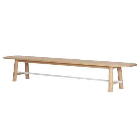 Hartô Design Hector Bench - Natural Oak With White Bar