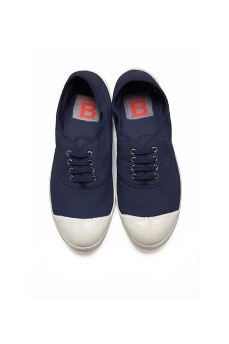 Bensimon Lace Up Tennis - Navy