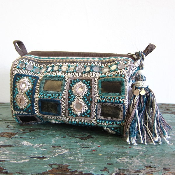 Star Mela Sari embroidered pouch