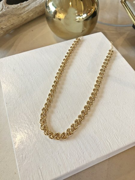 Charme Silkiner Rosette Chain Necklace - GOLD