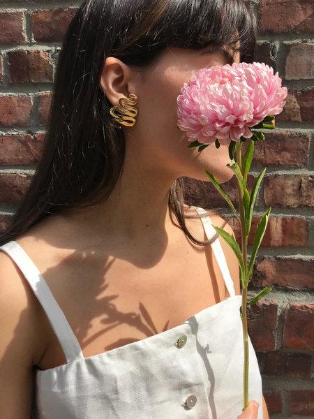 Luiny Undulations Earrings - Brass