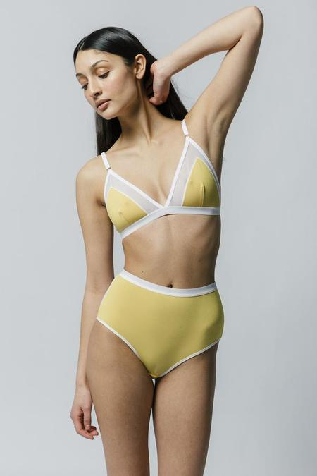 Mary Young Contrast Bra - Yellow